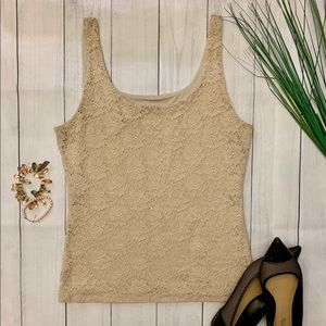 White House Black Market lace tank - sz M
